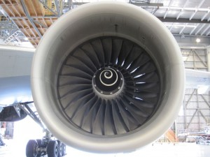 Rolls Royce engine of a 777-200